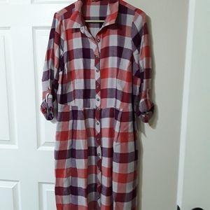 NWT MODCLOTH Jam Girl Shirt Dress, Marmalade